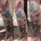 Butterflies and Lillies